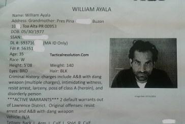 Policia Municipal De Toa alta Arresta a William Ayala Profugo Federal