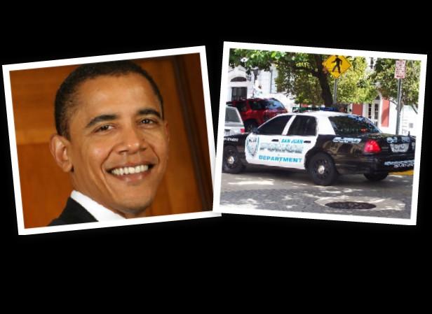 Policias Municipales de San Juan cansados de actos de corrupcion le piden al Presidente Obama que haga una investigacion