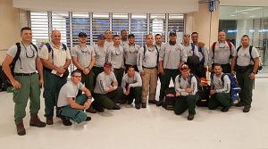 Bomberos boricuas salen a combatir incendios en Florida