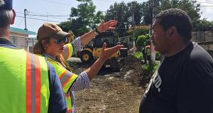 Lornna Soto comienza trabajos de pavimentación en comunidades de Canóvanas