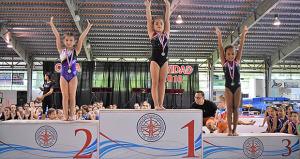 Metro Gymnastic gana la Copa de Navidad femenina niveles 1 al 8