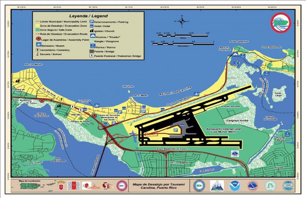 Conoce los mapas de desalojos de municipios del Noreste en caso de Tsunami