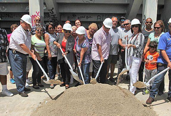 Colocan la primera piedra: Nueva cancha Evaristo Aponte Sanabria